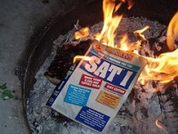 SAT scores hit new low. Public's ability to think critically tested.